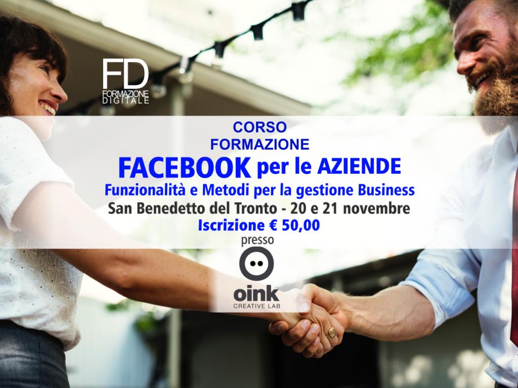 Facebook per le aziende - Corso formazione - simone fulimeni - san benedetto del tronto