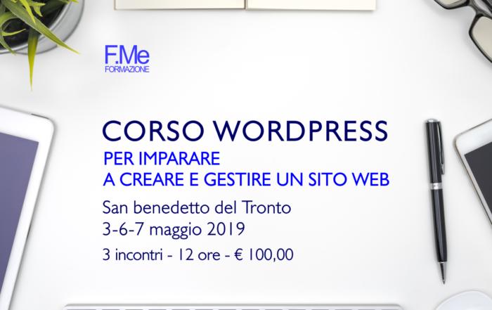 Wordpress - Corso formazione - simone fulimeni - san benedetto del tronto